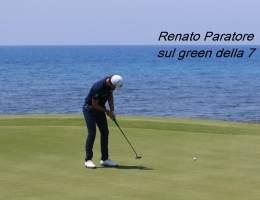 Renato Paratore sul green della 7