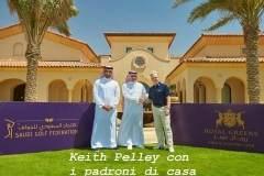 Keith Pelley con i padroni di casa
